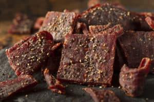 Fertiges Beef Jerky